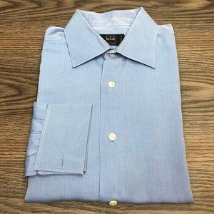 Ike Behar Blue French Cuff Dress Shirt 16-34